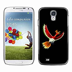 Planetar® ( Mystical Red Bird ) Fundas Cover Cubre Hard Case Cover Samsung Galaxy S4 IV (I9500 / I9505 / I9505G) / SGH-i337