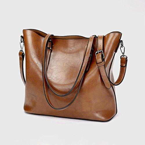 LILYYONG Women Crossbody Bag Shoulder Bag Handbag Bucket Bag Tote Bag Brown