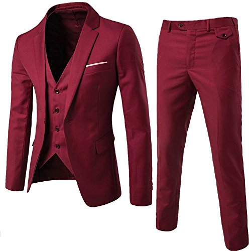 Red 3 Piece Suit - 3