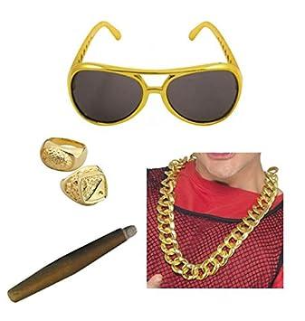 Big Daddy Rapper Pimp Chunky Gold Chain Costume Accessory