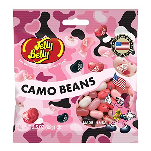 Jelly Belly Pink Camo Gourmet Jelly Beans - 3.5 oz Bag - Support Our Troops