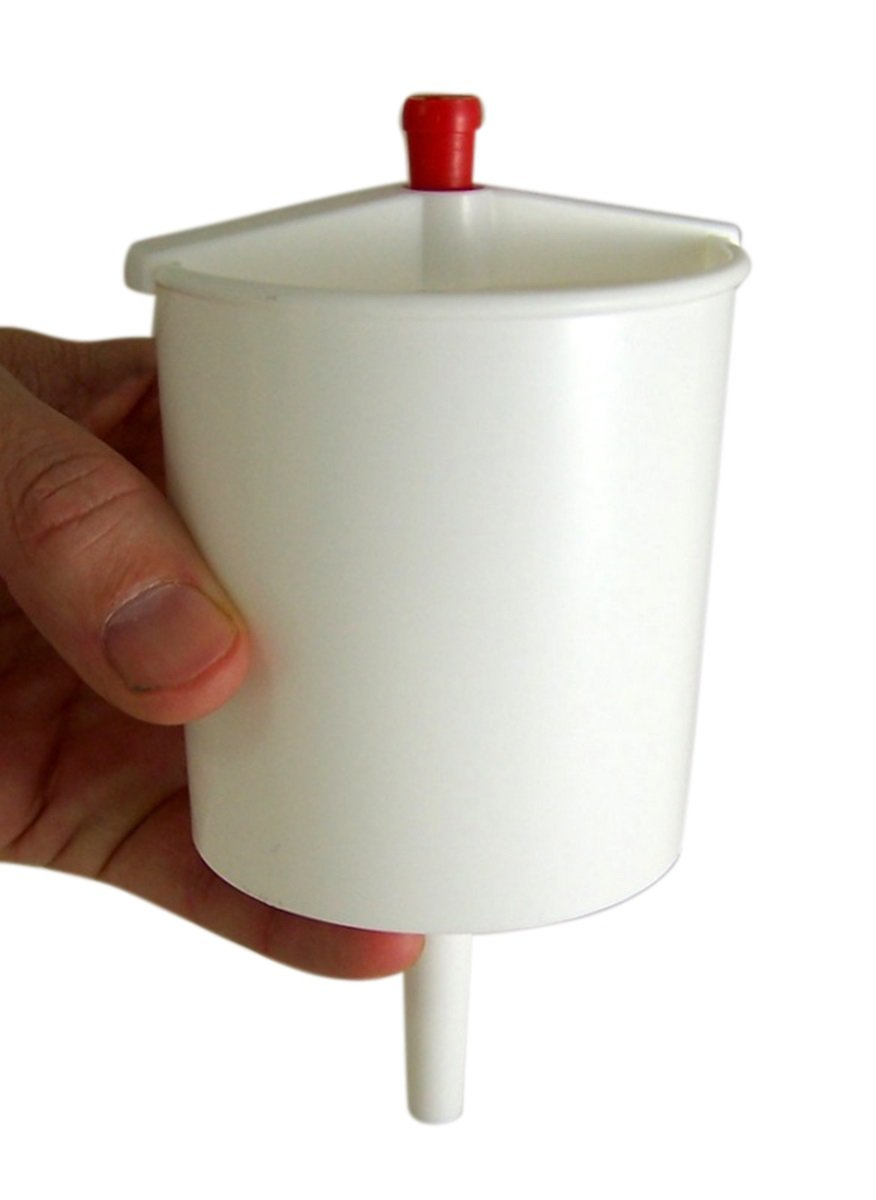 White Plastic 5 Inch Push Button Lever Hand Communion (Up to 25) Cup Filler Church Religious Gifts