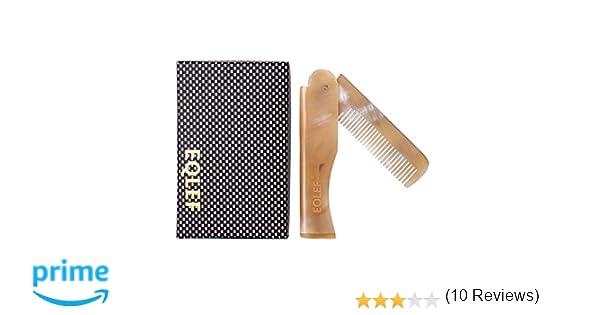 EQLEF® 1 piezas Yak Cuerno plegable peine de bolsillo plegable elegante Yak Cuerno peine peine Monedero-fit