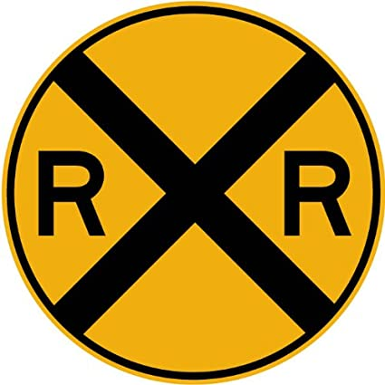 Excellent Amazon.com: Street & Traffic Sign Wall Decals - Rail Road Crossing  FP02