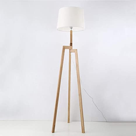 Amazon.com: MOM Long Pole Floor Lamp,Led Solid Wood Floor ...