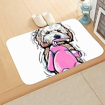 Dog 2 1.31 Ft X 1.96 Ft= 2.56 ft eazyhurry Doormat Pet Puppy Dog Printed Coral Fleece Home Decor Carpet Kitchen Floor Runner Floor Mat Indoor Outdoor Area Rug 16 X 24