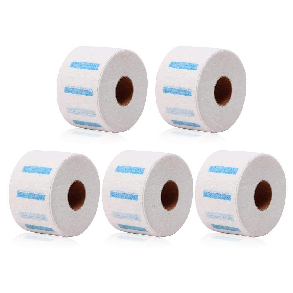Neck paper, MOGOI 5 rotoli di strisce di carta di protezione del collo monouso, parrucchiere collo elasticizzato copertura di carta asciugamano per parrucchieri e Barbieri o uso domestico