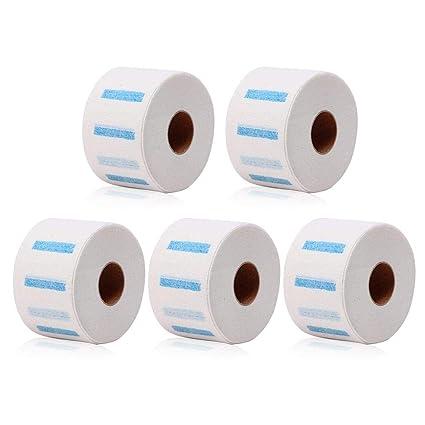 Papel de cuello, MOGOI 5 rollos de tiras de papel de protección de cuello desechables