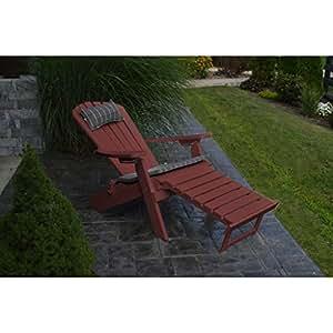 A & L muebles CO. Plegable reclinable plástico reciclado Adirondack silla w/Pullout Otomano