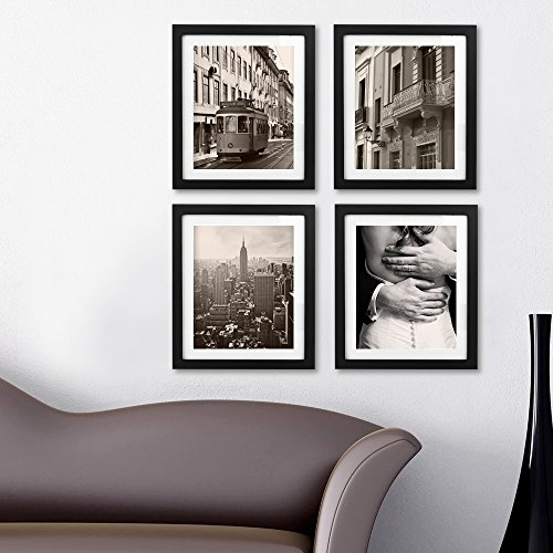 Picture Frames 8x10 Picture Frame Photo Frames 8x10 Magazine Frame Solid Wood Glass Photography Frames 10x12 Black Picture Frame - Made to Display Pictures 8x10 by BEOKREU (Image #2)