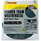 Frost King R516H 1-1/4-Inch by  7/16-Inch by 10-Foot Thick Sponge Rubber Foam Tape, Black
