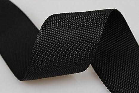 kraftz® Negro Polipropileno cincha correa 25 mm x 50 m cinta adhesiva multiusos para DIY Craft cinturón mochila banderines de delantal de flejado: ...