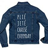 PliÃ, JetÃ, Ballet Everyday Jacket: Ladies Denim Jean Jacket