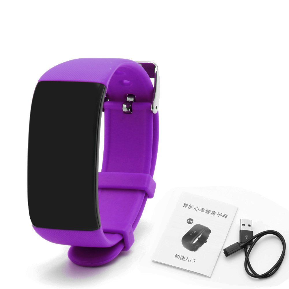 Wrisky Sports Smart Bracelet Heart Rate Wristband Watch Pedometer Fitness Tracking