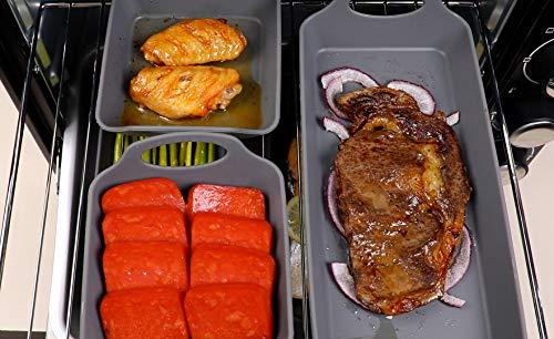 Kichware Silicone Sheet Pan Baking Mold, Big Baking Sheet, Bakeware Cookie Pan Set (4, Large2 & Small2)