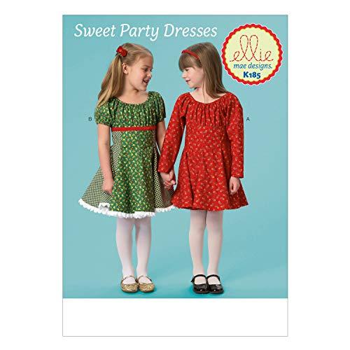 KWIK-SEW PATTERNS K0185 Girls' Dresses (Dresses Sewing Girls Patterns)