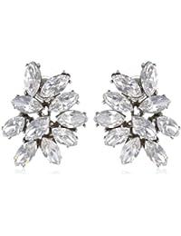 Swarovski Crystal Cluster Post Earrings for Bridal Wedding Anniversary