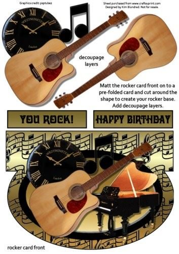 Mientras mi guitarra suavemente rocas, Rocker Tarjeta parte ...
