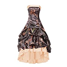 DINGZAN Camo High Low Dance Cocktail Prom Homecoming Dresses 2017