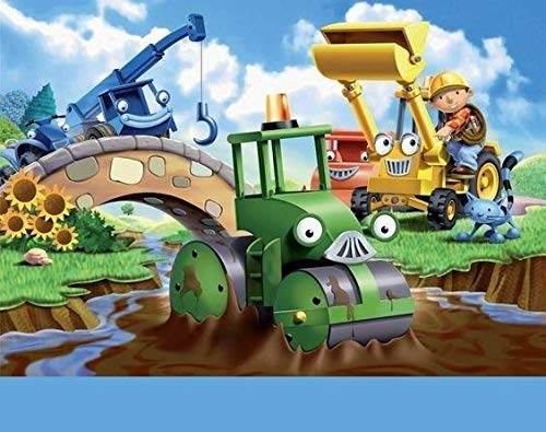 Bob the Builder Scoop Muck Lofty Roley Sunflowers Edible Cake Topper Image ABPID07434 - 1/2 sheet