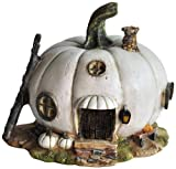 Top Collection Miniature Fairy Garden and Terrarium White Pumpkin Fairy House Statue Review