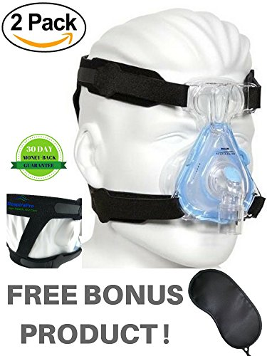 CPAP Headgear Strap Two-Pack: Universal ResMed & Respironics Straps for CPAP / BIPAP Mask, No Air Leaks Ultimate Comfort Tight Seal & Perfect Fit Compatible w/ Full Face & Nasal Apnea Masks (Small) (Mask Softgel Cpap Nasal)