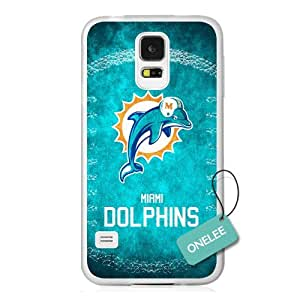 Onelee(TM) - NFL Team Logo Samsung Galaxy S5 case - Custom Personalized Miami Dolphins Hard Plastic Samsung S5 Cover - T1 by ruishername