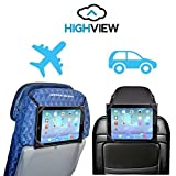 HighView iPad hanger for iPad 2,3,4- hangs anywhere (car, airplane, train, bus, stroller, gym, kitchen) and gives clean water to children in need. Tablet travel accessory gadget case mount hold holder kids children parents traveler