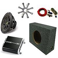 Kicker 10 Comp Sub DXA2501 Amp with Grill,Amp Kit,Truck Enclosure Bundle