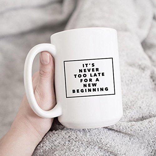 Female Entrepreneur | New Job Gift Magic Beginnings | New Beginnings Quote | Fresh Start | Motivational Quotes Mug | Friend Moving Away Gift