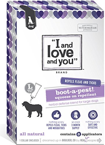 I and love and you, Flea and Tick Boot-a-pest! Squeeze on Large Dog 4 Applicators