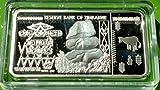 Zimbabwe $100 Trillion Silver Plated Challenge Art Bar