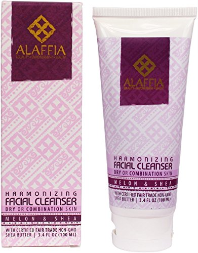 Alaffia Facial Cleanser 1 100% FAIR TRADE: Feel good about how you are getting your products with 100% Certified Fair Trade Ingredients. CLEANSE WITH ANTIOXIDANTS: With handcrafted shea butter, virgin coconut oil, and Rooibos tea - highly effective antioxidants - aloe and African wild honey, this silky cleanser fights skin-aging free radicals as it gently removes makeup, dirt, debris and other impurities. BALANCE YOUR SKIN, NATURALLY: Non-alkaline formula helps maintain and revitalize skins own moisture balance.