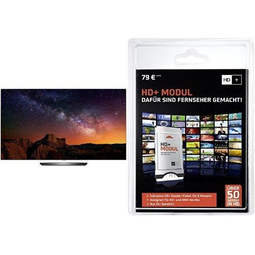 LG OLED65B6D 164 cm (65 Zoll) OLED Fernseher (Ultra HD, Triple Tuner, Smart TV)+ HD PLUS CI+ Modul für 6 Monate (inkl. HD+ Karte, optimal geeignet für UHD, nur für Satellitenempfang) Bundle