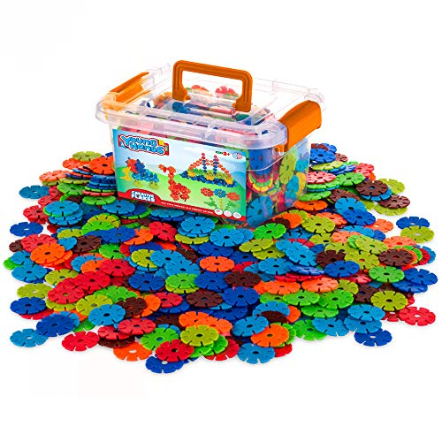 Creative Kids Flakes - 600 Piece Interlocking Plastic Disc Set