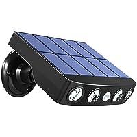 DierCosy Tuinverlichting op zonne-energie, met bewegingssensor, decoratieve waterdichte lamp, zwarte schaal, warme…