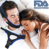Anti Snoring Chin Strap, Snoring Solution and Anti Snoring Devices, Snoring Chin Strap for Sleep, Adjustable and Flexible Snore Chin Strap for Sleeping, Stop Snoring Devices for Men Women Kids(Blue)