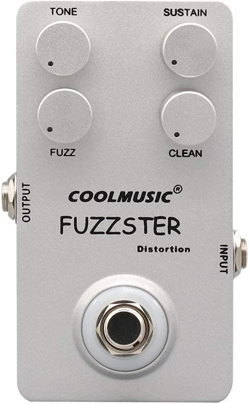 Coolmusic Fuzzster Pedal de efecto de guitarra de distorsión Pedal de bajo Fuzz para guitarras eléctricas