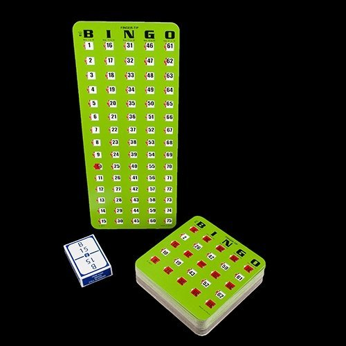 Equipment Calling - Regal Games 25 Finger tip Shutter Slide Card Bingo Set with Masterboard and Calling Cards