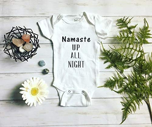 Namaste up all night, funny Baby Bodysuit, Baby Shower Gift