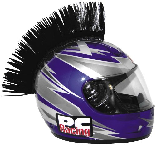 PC Racing Helmet Mohawk , Color: Black PCHMBLACK