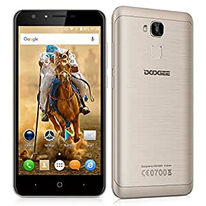 "Doogee Y6 - Smartphone libre Android 6.0 (4G LTE, Pantalla 5.5"", MT6750 Octa Core 1.5GHz, 16GB ROM, 2GB RAM, Camara 13MP, Dual SIM, OTG), Dorado"