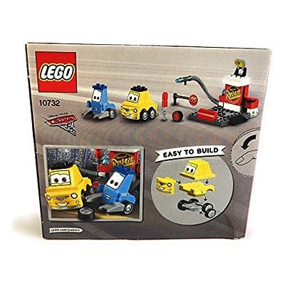Lego Junior Disney Pixar Cars 10732 Guido and Luigis Pit Set and 10731 Cruz Ramirez Race Simulator Building Kit Bundle: Toys & Games