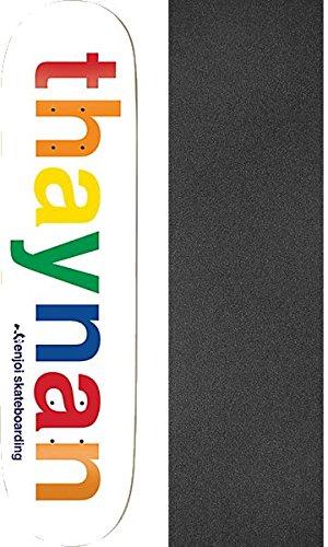 "Enjoi Skateboards Thaynan Costa Spectrum Skateboard Deck Resin-7-8.125"" x 31.7"" with Black Magic Black Griptape - Bundle of 2 Items"