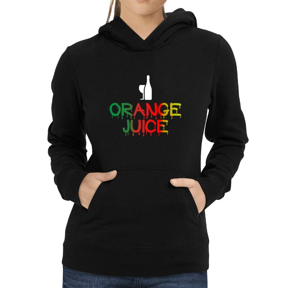 Eddany Dripping Orange Juice Women Hoodie