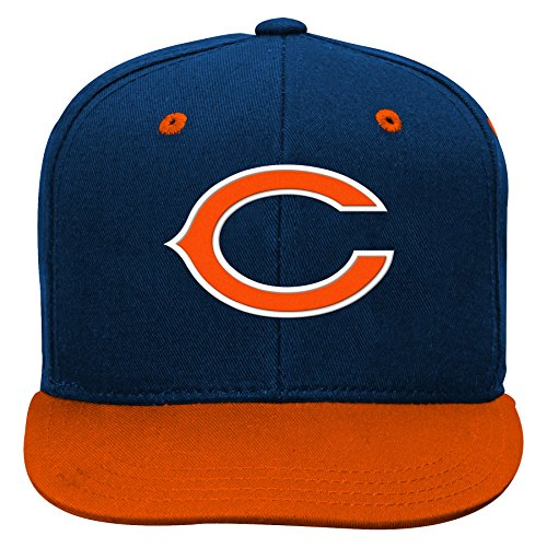 NFL Chicago Bears Youth Boys 8-20 Basic 2 Tone Flatbrim Snapback Cap, One Size, Deep - Accessories Chicago Kids Bears
