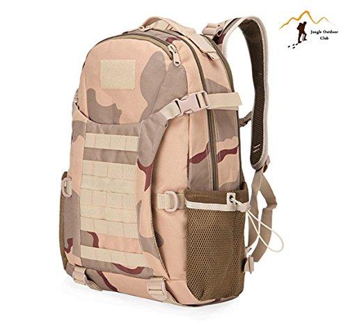 Jungle Oxford Neue Top 511Rucksack Outdoor Reise Rucksack Molle Big Bags Camouflage Tactical Taschen Wild Rucksack Tasche Wandern Klettern Rucksack, drei Sand