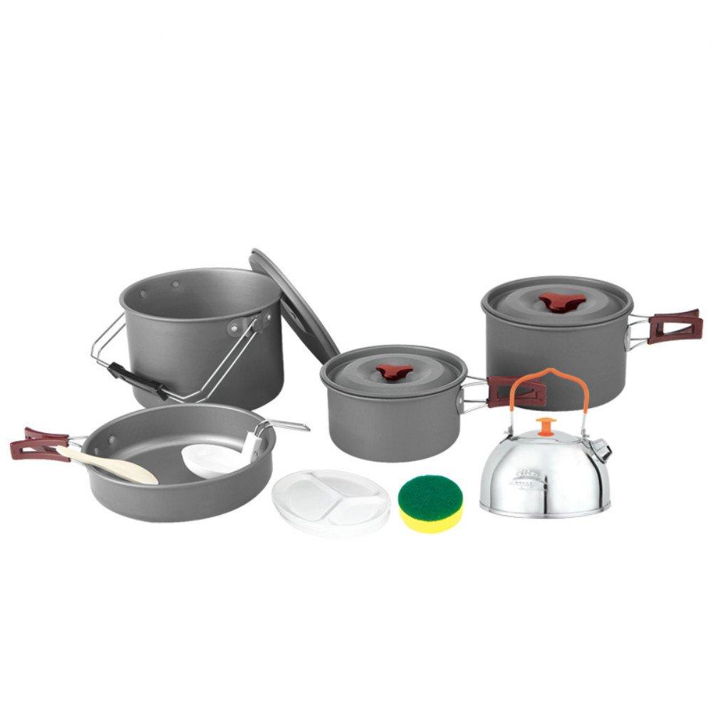 Outdoor Pot 6-8 Portable Camping Picnic Pot Set
