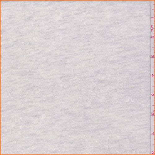 Grey Heather French Terry Knit, Fabric by The -