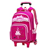 Fanci Bow-knot Dancing Girl Waterproof Elementary Trolley Rolling School  Backpack Book Bag for Primary f1e608e2c05df